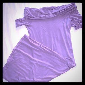 ASOS Lavender Bardot Midi Dress